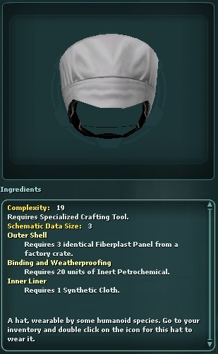 Small Ithorian Chef Hat