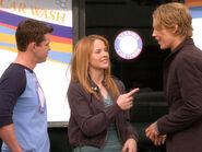 Wilke, Daphne, Travis outside Kennish car wash