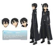 Sword art online - Kirigaya Kazuto Male Solo Character Sheet Official Art Official Character Inform...