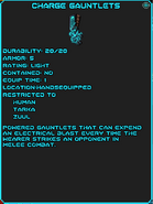 Charge gauntlets