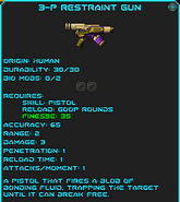 3-P Restraint Gun