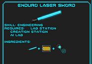 Enduro laser sword