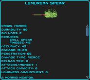 Lemurean spear, +1 healing, lvl 6 poison, +10 Psi shield