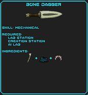 Bone Dagger Recipe