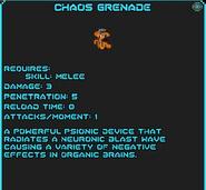 Chaos Grenade info