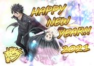 New Year 2021 Kirito and Yui illustration by Suzuki Gou