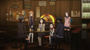 Sachie and Mizue meeting Shino S2E14