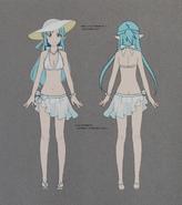 Asuna CR Swimsuit Concept Art 2 Gameverse 5th Anniversary Art Book