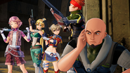 Agil, Klein, Lisbeth, Leafa and Silica during the cut-scene of the Good Ending in Fatal Bullet