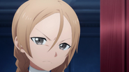 Linel's scornful expression while warning the knights not to steal their credit S03EP15