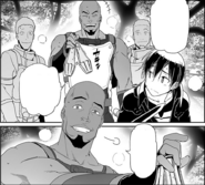 Agil teasing Kirito about Asuna's absence while offering him a potion - Progressive manga c16.5
