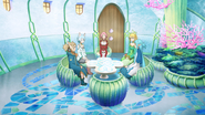 Asuna and Leafa informing Lisbeth, Silica and Sinon about not being able to see Kazuto - S3E05