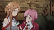 Lisbeth teasing Asuna