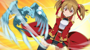 Pina flapping up Silica's skirt