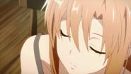 Sleeping Asuna in Kirito's dream