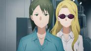 Rinko and disguised Asuna being escorted to Kikuoka Seijirou S03EP05