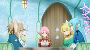 Asuna sharing information on Project Alicization with her friends in ALO - S3E06
