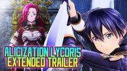 Sword Art Online Alicization Lycoris Extended Trailer SAO Wikia Translation