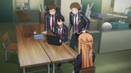 Kazuto and others working on the Communication Probe