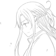 Asuna on an insert illustration between Progressive manga chapters 17 and 18