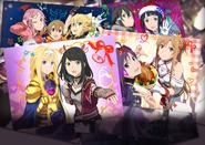 Alice, Koharu, Silica, Leafa, Lisbeth, Sinon, Sachi, Yuuki and Asuna in Christmas 2018 Event IF