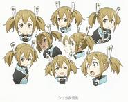Silica Facial Expression Design Art - SAO Secret Report