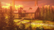 Forest Home in the evening