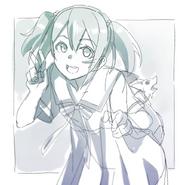 Ayano Keiko Illustration (draft) for OS Manga C12 Release on Comic Walker