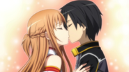 Kirito and Asuna kiss HF