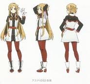 Asuna Character Design Art - SAO Secret Report