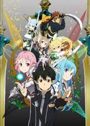 Sword Art Online II Anime Calibur Key Visual