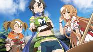 Sinon, Asuna and Silica covered in mochi