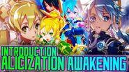 Introduction to Alicization Awakening Sword Art Online Wikia Features