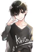 Kirito illustration by Nekobyou Neko on April 4, 2021
