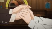 Shino and Mizue holding hands S2E14
