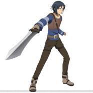 Kirito's beta character design for Code Register
