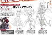 Characters drawn by Calibur manga artist