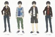 Kirigaya Kazuto Outfit Design Art - SAO Secret Report