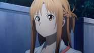 Asuna starting a conversation with Kazuto about his future plans - S3E01