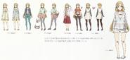 Yuuki Asuna Outfit Design Art - SAO Secret Report