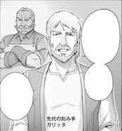Garitta instructing Kirito to bring a branch of the Gigas Cedar to Sadore - PA manga chapter 17