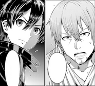 Ryoutarou discussing with Kazuto the incident that resulted in Ryoutarou's hospitalization - OS manga chapter 09