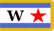 Flag of the Korean People's Army (Fringed)