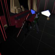 Darth Ash Warpam versus Darth Warshadow Battle Start Empress Throne Room