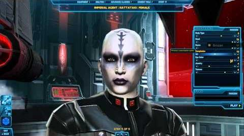 Imperial Agent Character Creation - SWTOR - TOR - Star Wars The Old Republic