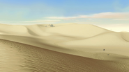 De woestijn van Tatooine