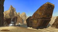 Een Sandcrawler op Tatooine