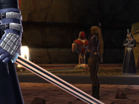 Spindrall Acolytes attack a Sith Initiate
