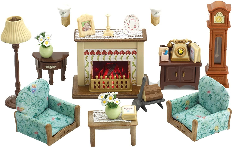 Drawing Room Set Sylvanian Families, Luxury Living Room Set Sylvanian Families