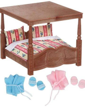 Sylvanian Families Calico Critters Luxury Four Poster Bed